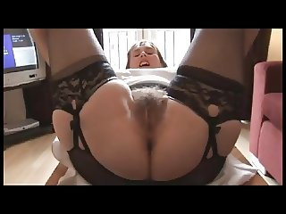 Hairy Mature Stripping at Home