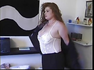Horny BBW Redhead getting Banged In Her Ass And Pussy