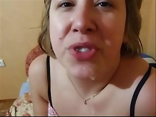 Wife swallows cum compilation