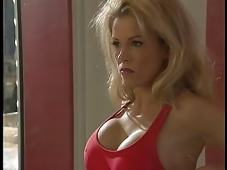 Gorgeous blonde lifeguard deep throats a thick hard cock