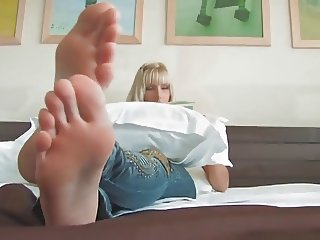 Amazing Blonde with Gorgeous Feet