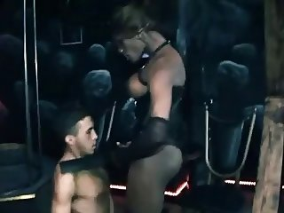 Black mistress fucked by hung sub