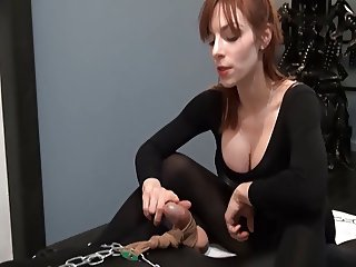 pantyhose handjob