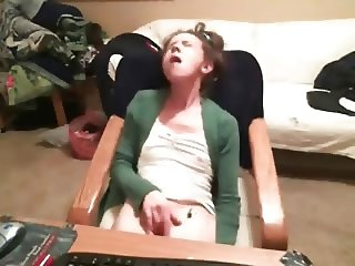 Great orgasm of my sister at PC caught by hidden cam