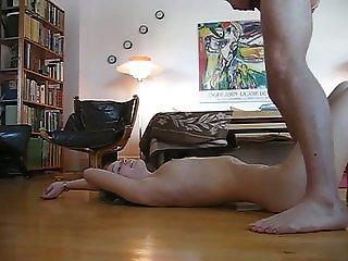 Danish girl Katrine gets cum all over her body