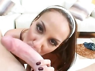 She Takes A Big White Cock