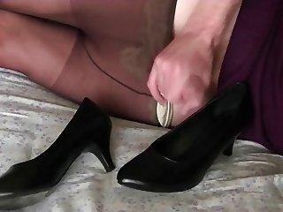 Cumshot in shoes