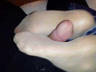 Sexy Chell Reverse Pantyhose Footjob