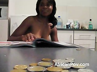 Tourist makes amateur POV with African babe Lakisha sucking his dick