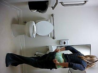 Hidden cam office bathroom 2