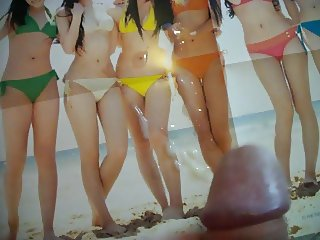 Cum tribute Japanese bikini girls