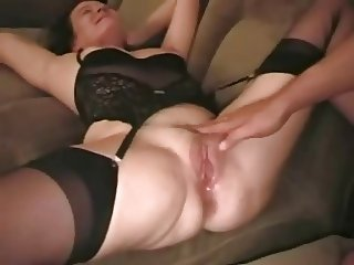 Husband watches his wife take a creampie
