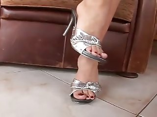 Foot fetish sexy high heels