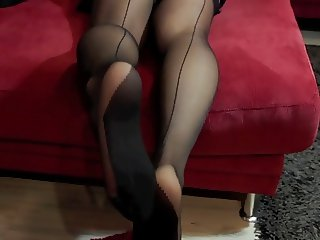 Geile Doppel Nylon 1- Horny Doubles Stockings