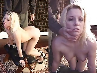 Submissive slaves first training session, anal and fingering