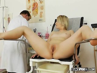 Doctor Peaks Deep Inside Graces Pussy