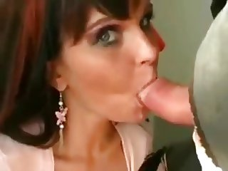 Amateur BJ and cum swallow