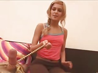 wonderful Blonde skinny fuck a lucky guy long version