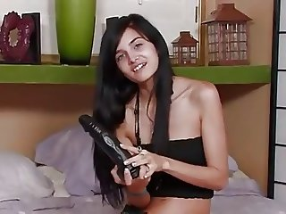 Petite girl plays with bbd to a toe curling orgasm