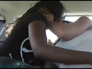 Lesbian kissing in car