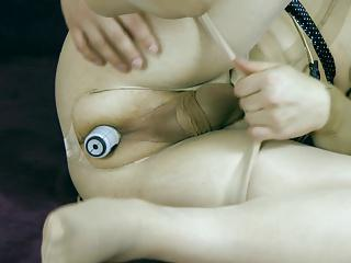 My little bdsm with pantyhose and toys 7
