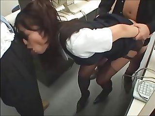 office worker handles the staff