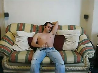 My Sofa Strip and JerkOff With Cum