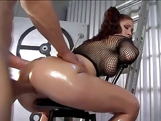HOT FUCK #61 (Brunette Babe with Pigtails Oiled Ass)