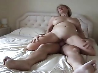 a hot granny riding on real homemade