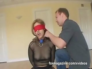See Cherry Rose hogtied and fucked to the extreme