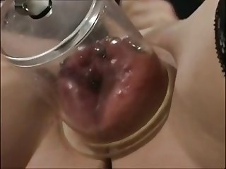 German milf with pumped and pierced pussy