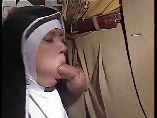 Nun in action