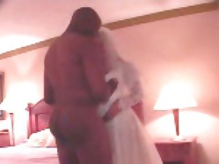 Bride and Black Stud, Phone Cuckolding Groom