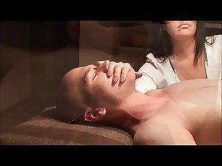 German Hand Over Mouth handjob