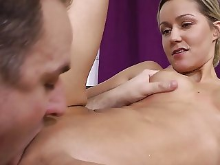 Nancy Blond - Tits milking