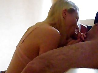 Blondie's doing a great job and swallows