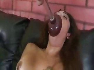 Mlle Vanessa Lapute Face Fuck Deepthroat Dildo Gagging