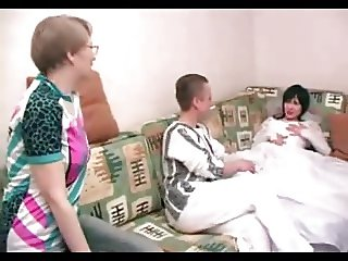 Horny Mature Mom joins not Her Son and his Fiancee