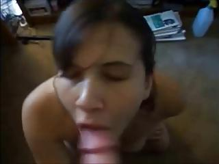 fuck ended with huge cum in her mouth