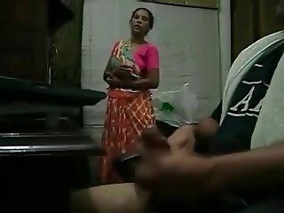 HANDJOB FOR MAID