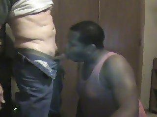 Black chub sucks hard BWC pt.2 (big white cock)