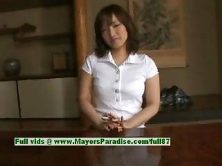 Nao Ayukawa innocent cute asian girl likes fucking in the kitchen
