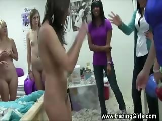 New student lesbo initiation by sorority sisters