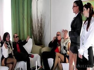Lusty whores sicking dicks in gangbang