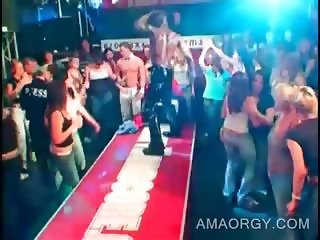 Teen party hotties at orgy with sexy strippers