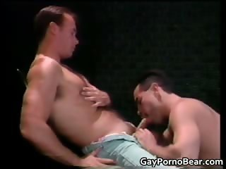 Two gay dudes have a lot of fun sucking part1