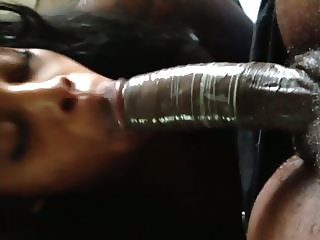 Jamaican Freak sucking on my dick.