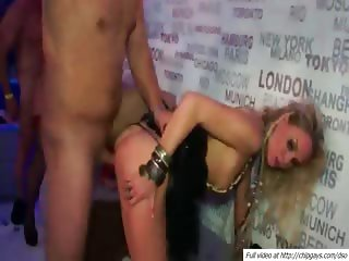 Drunk and willing girls drilled hard by male strippers