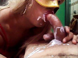 Sexy brazilian crossdresser Bruninha Loira Sapeka