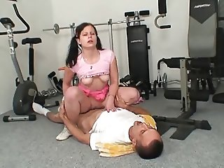 Teen fucked in the Gym